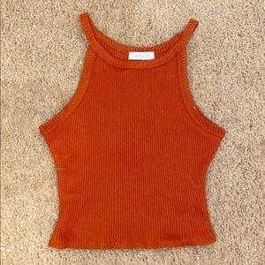 Cropped red/orange tank top